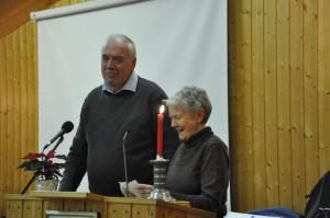 Messegeneral Harald Heie saman med Kirsten Nesse, leiar i Uggdal Indremisjon.