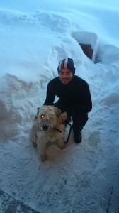 Erlend Nilsen med hund