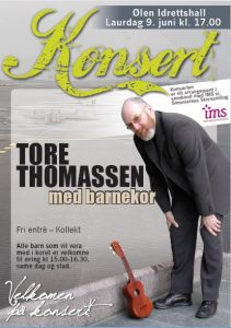 Konsert Tore Thomassen @ Ølen idrettshall
