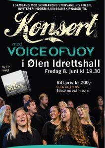 Konsert Voice of Joy @ Ølen idrettshall
