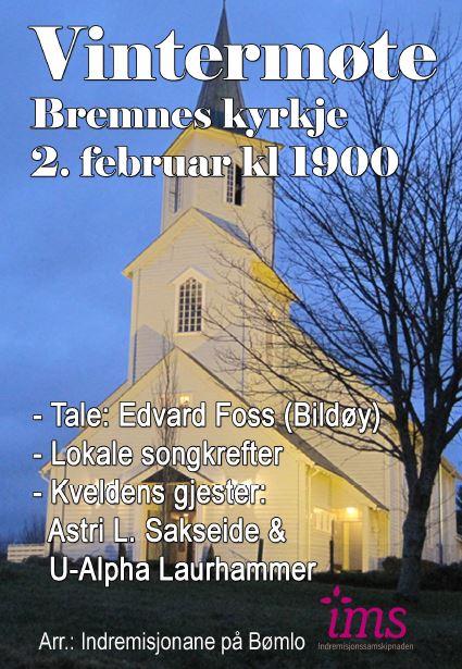 Vintermøte Bremnes kyrkje