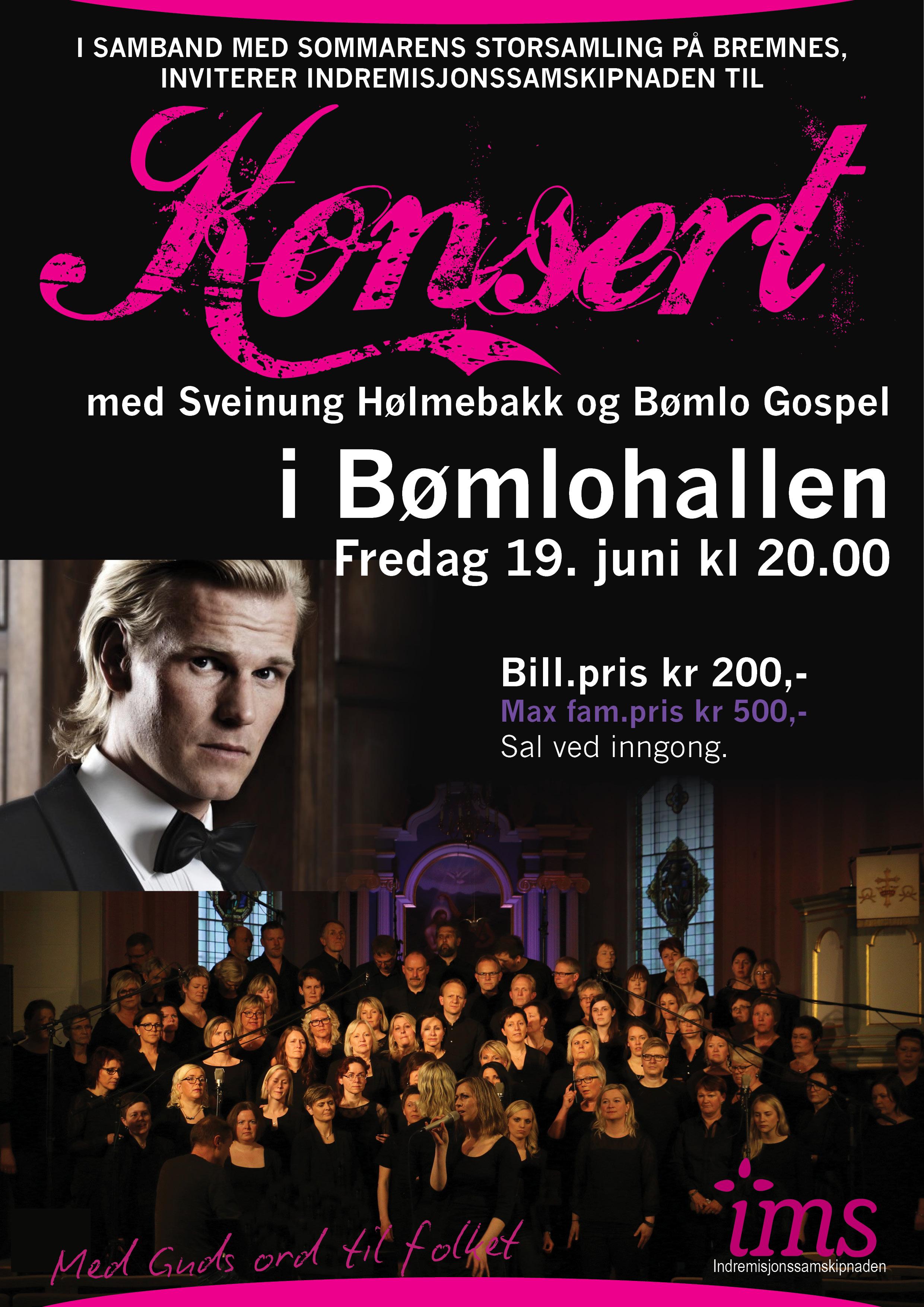 Konsert med Sveinung Hølmebakk og Bømlo Gospel